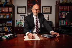 Scott Needleman at his desk, striving to be the Best Columbus Bankruptcy Attorney Near Me